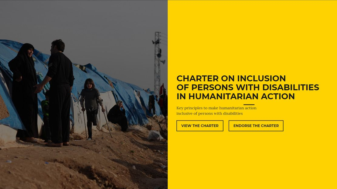 Charter on inclusion of persons with disabilities in humanitarian action