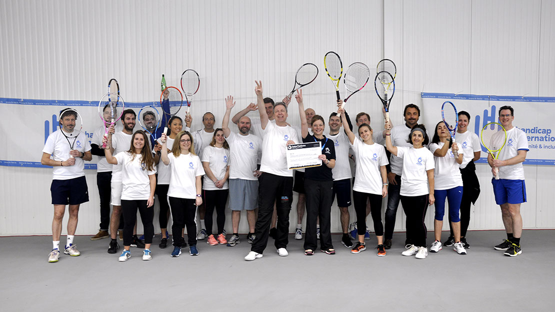 4ème tournoi de tennis de InterNations au profit de Handicap International