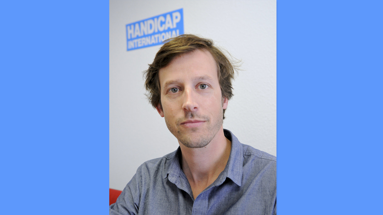 Thomas Hugonnier, responsable du programme « Action contre les mines » de Handicap International